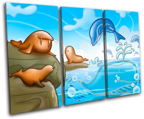 Dolphin Walrus Seal For Kids Room - 13-2132(00B)-TR32-LO